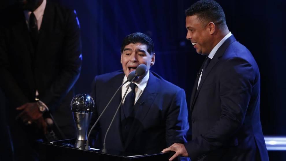 Роналдо рассказал, как прошел его последний разговор с Марадоной
